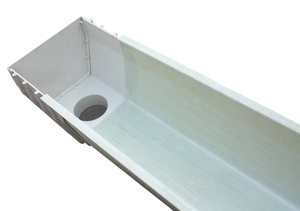 Gutter flume connection